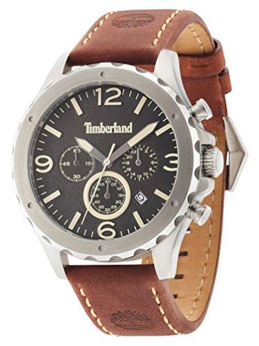 Timberland Orologio Cronografo Quarzo Uomo con Cinturino in Pelle 14810JS/02