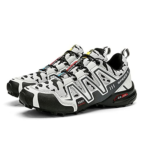 Aerlan Gym Shoes Lightweight Shoes,Zapatos para Correr a Campo traviesa para Viajes al Aire Libre, Zapatos para Caminar, Senderismo, Zapatillas Informales-White_42,Botas de montaña Deportivas