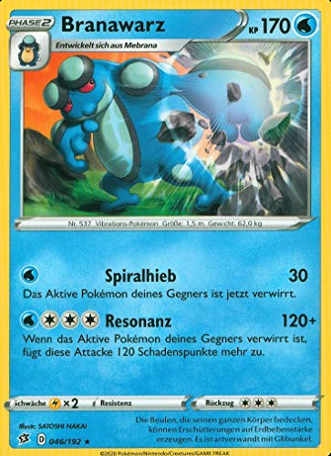 Branawarz - 046/192 - Rare - Pokemon - Clash der Rebellen - Deutsch - mit GECO® Versandschutz
