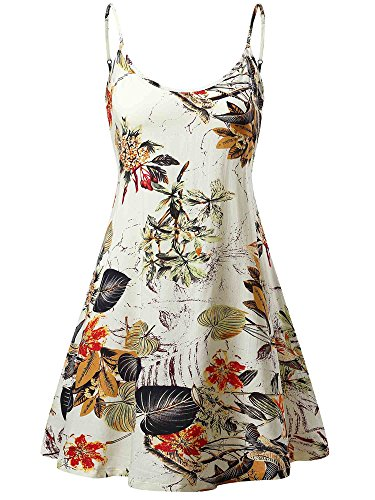 MSBASIC Ärmelloses, verstellbares Riemchensommer Strand Swing Kleid für Damen, Mehrfarbig, S