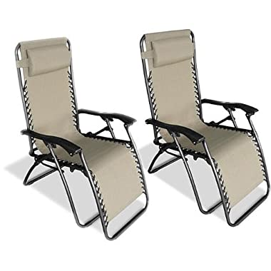 Caravan Sports Infinity Zero Gravity Chair - 2 Pack, Beige