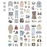 YFB Koreanische süße Mädchen Herz Hand Buch Aufkleber Set Hand Buch Werkzeug Material Handy Dekoration kleine Aufkleber Band Mode Blog [1 Satz von 6 Blatt]