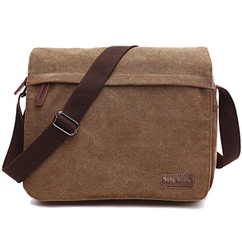 SUPA MODERN Leinwand Messenger Bag Umhängetasche Laptop Tasche Computer Tasche Umhängetasche aus Segeltuch Tasche Arbeiten Tasche 14 Zoll Umhängetasche für Männer & Frauen by