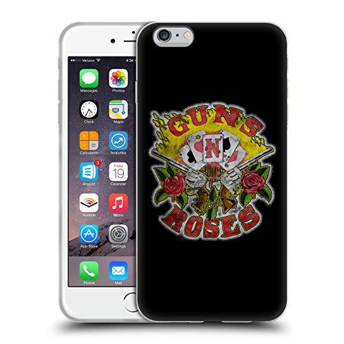 Head Case Designs Licenza Ufficiale Guns N' Roses Carte Arte Banda Cover in Morbido Gel Compatibile con Apple iPhone 6 Plus/iPhone 6s Plus