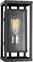 Trans Globe Imports 50222 BK One Light Wall Lantern from Showcase Collection, Black/Brushed Nickel