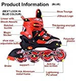 Supreme Deals Latest Designed Sparkle Adjustable Inline Skates with Front Light up PU Wheels...