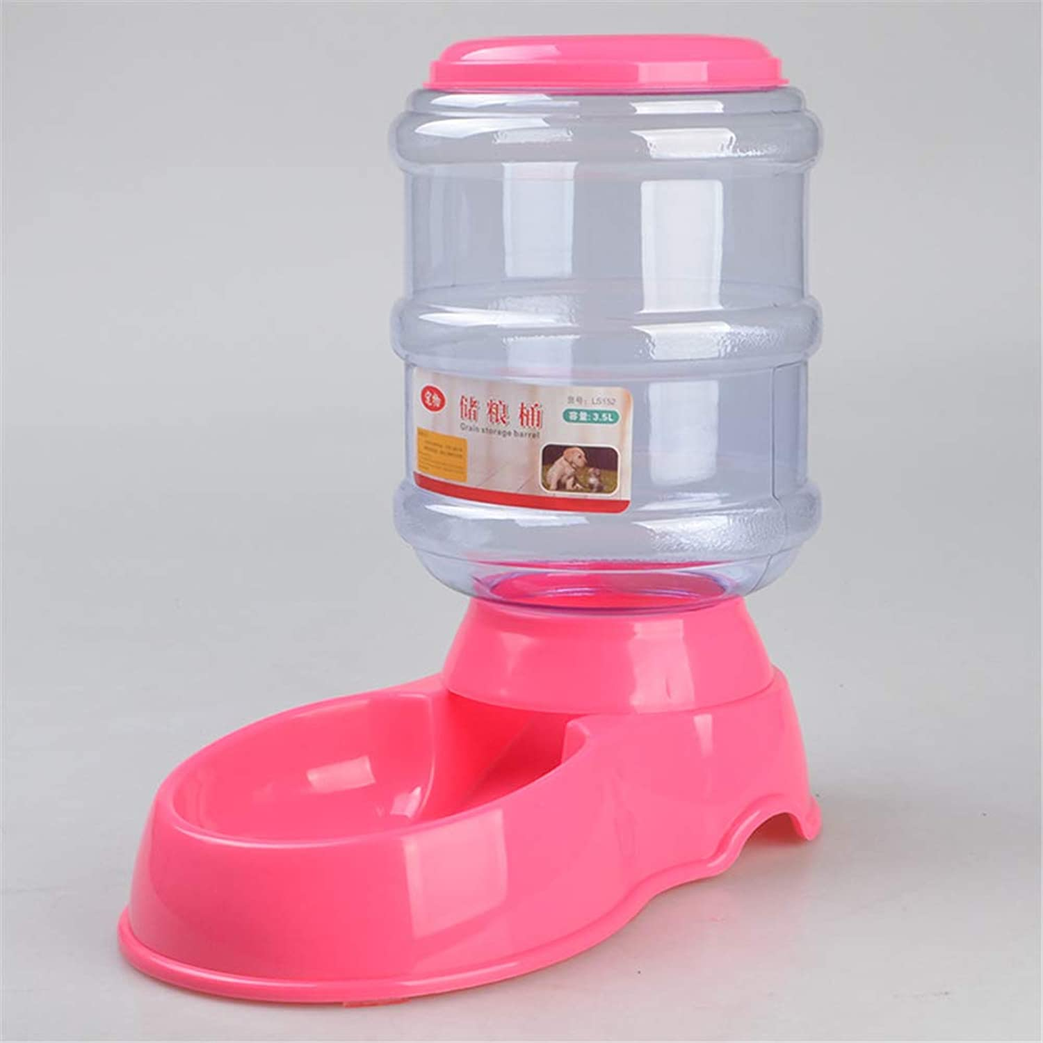 3.5L(1 gallon ) Pet Feeder or Waterer SelfDispensing Gravity for Dogs Cats & Small Animals