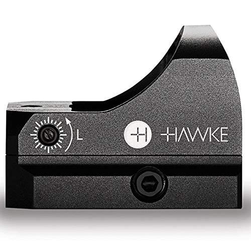 Hawke Mikroreflexvisier 3 MOA Zielpunkt Rotpunktvisier, schwarz, M
