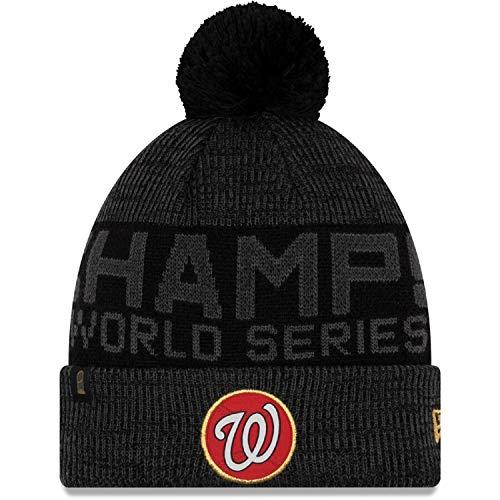New Era Washington Nationals Black 2019 World Series Champions Locker Room Knit Hat