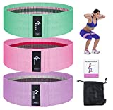 GLOUE Exercise Resistance Bands for Women, Upgrade Thicken Anti-Slip & Roll Workout Booty Bands, Mini Hip Circle Loop Sliders Fitness Thigh Glute Bands Set(3 Pack)
