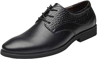 Goorape - Zapatos de Cordones de Piel para Hombre
