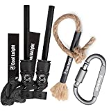Cool knight Magnesium Fire Starter & Tinder Wick Fire Starter Rope Kit,Compass & Whistle for Camping, Hiking, Emergency Survival-Hiking-All-Weather Magnesium Ferro Rod
