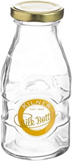 Kilner Milk Bottle, Twist-top Lid Keeps Contents Fresh, Vintage Embossed Logo, 6-1/2-Fluid Ounces