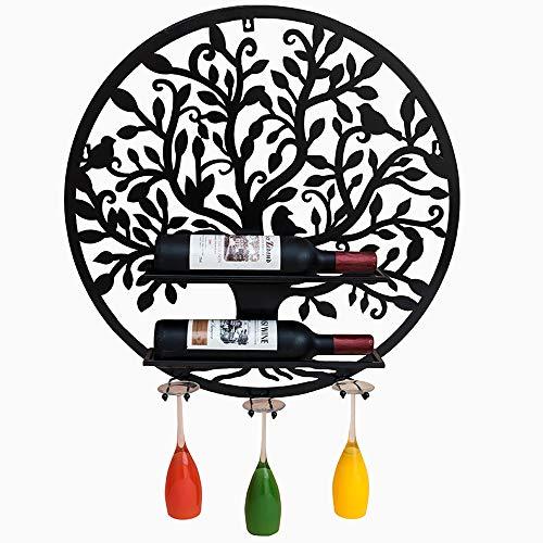 YAXIAO Decoración de Estante for Vino Colgante de Pared vinoteca Estante de Pared gabinete de Vino vinoteca Colgante Estante de Vino...