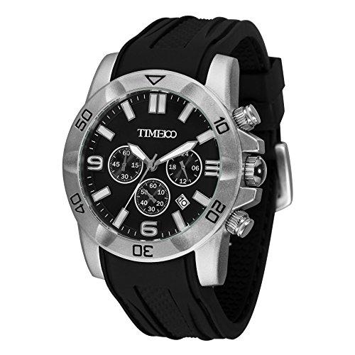 Time100 Fashion Reloj Pulsera de curazo cronógrafo para Hom