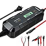 RIIMONE,RM101,6Amp,6V/12v Smart Car Battery Charger and Maintainer,Lithium Battery Charger for Lead-Acid AGM Lithium Gel Cell Batteries,8-Stage Charging,with Temperature Compensation