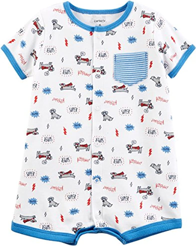 Carter's Baby Boys' Snap-Up Cotton Romper