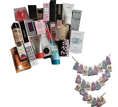 Adventskalender 2020 Damen Miniaturen Duschgel Labello + 1 Orginalgrösse Eau de Parfum