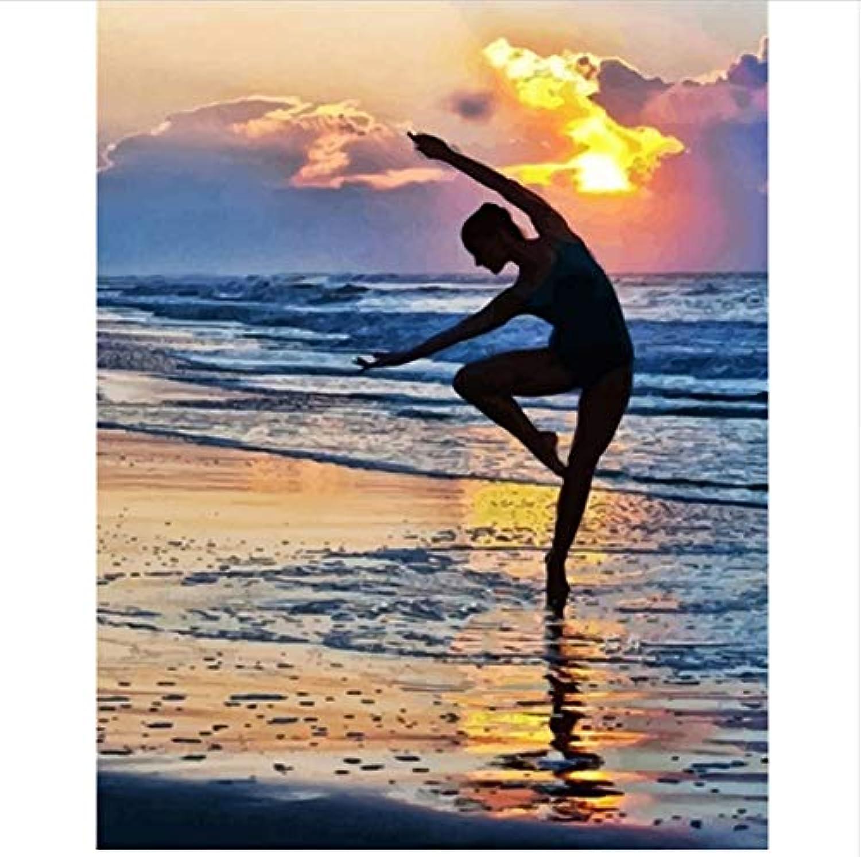 CZYYOU DIY Digital Malen Nach Nach Nach Zahlen Strand Ballett Ölgemälde Wandbild Kits Färbung Wandkunst Bild Geschenk - Ohne Rahmen - 40x50cm B07PMSS1Q7 | Die Farbe ist sehr auffällig  16ac97