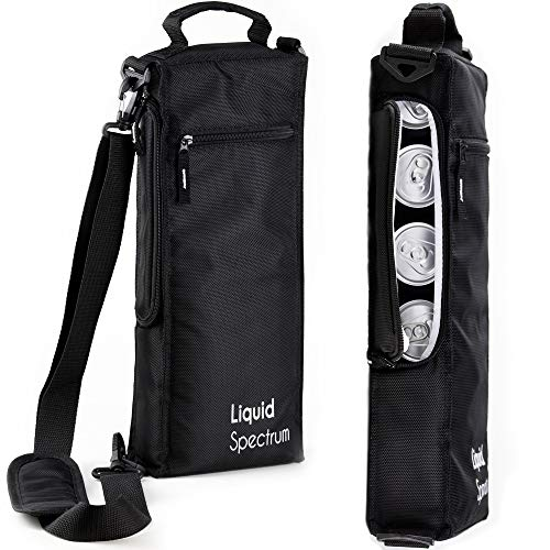 Liquid Spectrum Soft Insulated Golf Cooler Bag - Holds 6 Cans of Beer/Soda or 2 Bottles of Wine | Includes Detachable Shoulder Strap for Golfers | Golf Accessories for Men