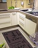 misento 282475 Küchenläufer waschbar Küchenteppich Espresso Läufer, Polyamid, braun, 57.0 x 120.0 x 0.5 cm