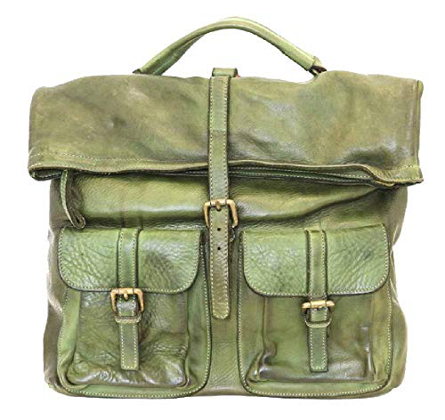 BZNA Bag Yago grün Backpacker Designer Rucksack Damenhandtasche Schultertasche Leder Nappa Italy Neu