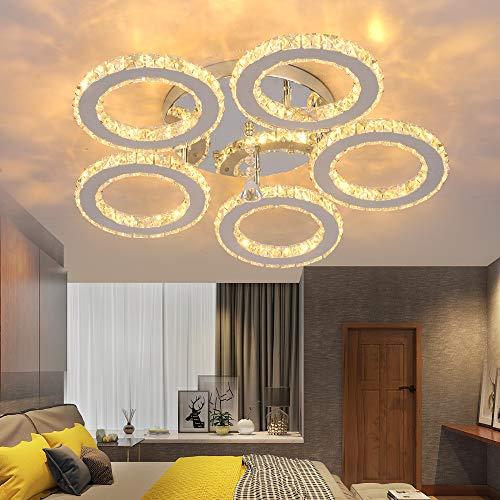 Lampadari cristallo,Plafoniere interne Luci acciaio inossidabile LED 55W lampada da soffitto [Classe di efficienza energetica A]