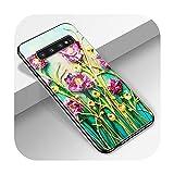 Coque en verre trempé pour Samsung Galaxy S10 A51 A71 A50 S9 S8 S7 S10E S20 Ultra A40 A20E A70 Note...