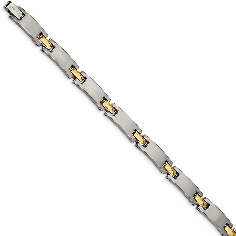 Beautiful Titanium Yellow IPPlated 8.5in Bracelet