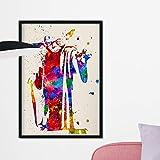 Nacnic Yoda Aquarell Poster. Wasserfarbe Stil