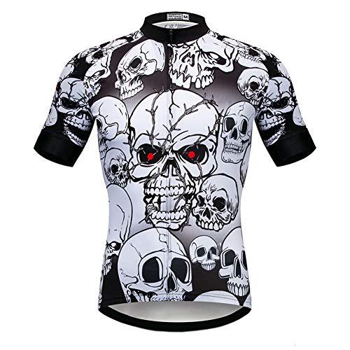 Pirate Theme Radtrikot für Herren,schnell trocknende,atmungsaktive Kurzarm-Radhemden mit komprimiertem Fahrrad,sommerelastische,schweißhemmende Fahrradtrikots