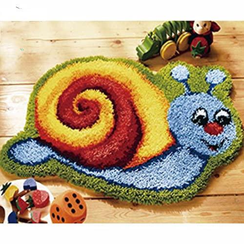Home Décoration Crochet Tapis Kit Dessin Animé DIY DIY Indicached Crocheting Fil Tapis De Loquet Crochet Kit De Plancher Tapis De Plancher Tapis Livraison Gratuite(Size:100X70CM)