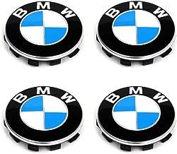Enseng Set of 4-56mm Wheel Center Caps Emblem for BMW, Rim Center Hub Caps for All Models with BMW Wheels Logo Blue & White Color