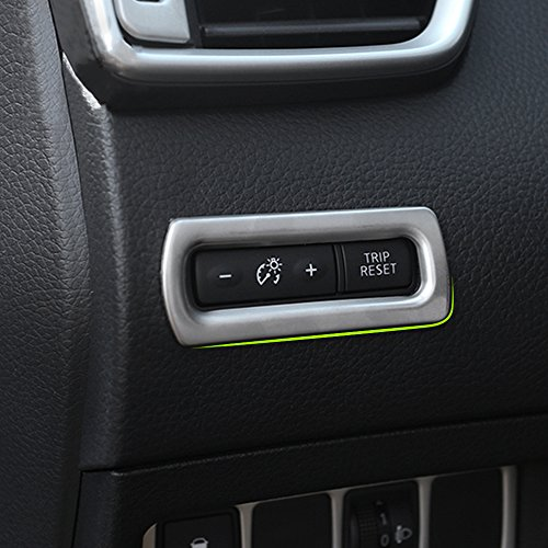NA Tablero Odómetro Botón Interruptor Cubierta Acero Inoxidable para Nissan Qashqai J11 2014+ X-Trail Xtrail T32 2013+