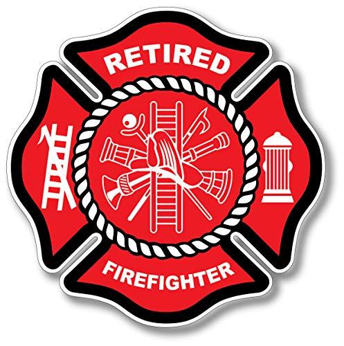 3 Pack Retired Firefighter Badge Maltese Cross Thin Red Line Red Lives Matter for Firemen or Firewomen