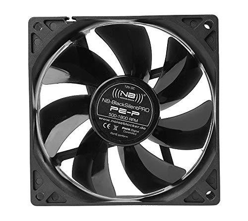 Noiseblocker Gehäuselüfter 92mm BlackSilent Pro PC Fan PE-P - PWM Lüfter 92mm mit Silent Wings & Silikonrahmen - Drehzahl je nach Situation 500-1.800 U/min
