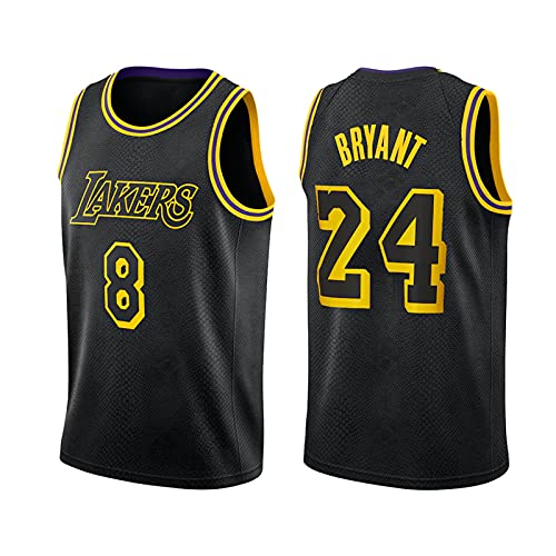 GFQTTY Camiseta De Baloncesto Black Mamba para Hombre, Lakers 8# 24# NBA...