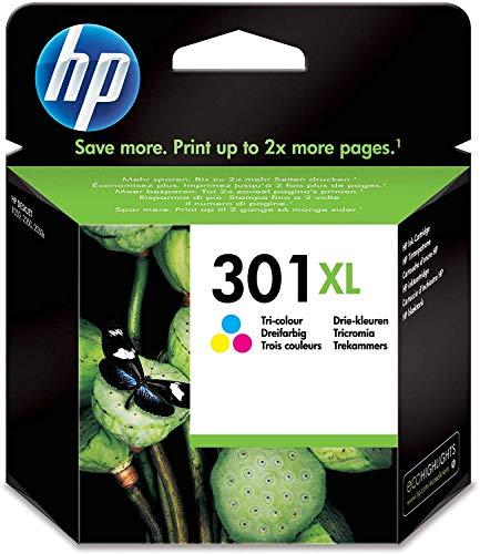 HP CH564EE 301XL Cartucho de Tinta Original de alto rendimiento, 1 unidad, tricolor (cian, magenta, amarillo)