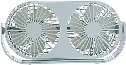 USB Fan, Portable Desktop Fan, 360° Free Rotation Fan Dual Head Aromatherapy Fan for Home, Office, Dormitory, 3 Speed, Gift Idea,Green
