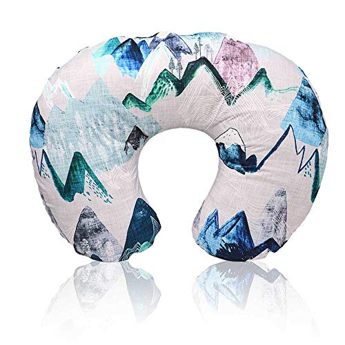 Minky Nursing Pillow Cover, Adventure Mountain Breastfeeding Pillow Slipcover for Baby Boys & Girls, Nursing Pillow Case for Newborn, Soft Fabric Fits Snug On Infant, Washable & Breathable