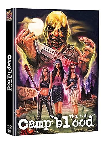 Camp Blood 1-6 Uncut 3-Disc Mediabook Cover C - Limited Edition auf 111 Stück [Blu-ray]