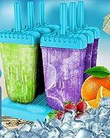 HelpCuisine® Stampi ghiaccioli - Stampi per gelati realizzati in plastica di alta qualità priva di BPA e approvata dalla FDA, ideale per la preparazione di ghiaccioli, gelati, sorbetti,(Blu) #6