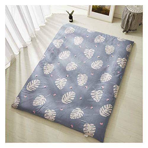 YWYW Funda de colchón de algodón con Protector de colchón para colchón de futón, colchón Tatami, colchón Suave, hasta 2.7 Pulgadas de Profundidad, A, 150 x 200 cm (59 x 79 Pulgadas)