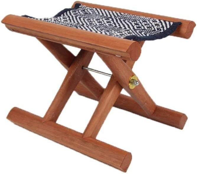 QYZHCP Phoenix Mall Chair, Red Cherry Wood F supreme Stool Chair Solid Folding