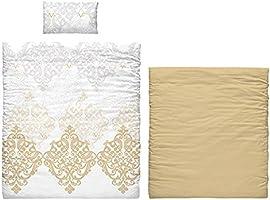 Versace 19 V69 Savanne justerbar och örngott sängkläder, bomull, guld, 35 x 25 x 23 cm, 6 stycken