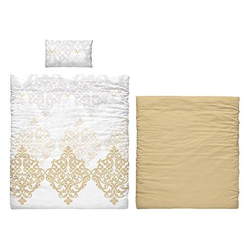 Versace 19V69Savanne verstellbar und Kissenbezug Bettwäsche, Baumwolle, Gold, 35x 25x 23cm, 6Stück