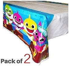 Micher Baby Shark Table Cover Party Supplies Decoraciones, Juego de 2 manteles para Fiesta de cumpleaños