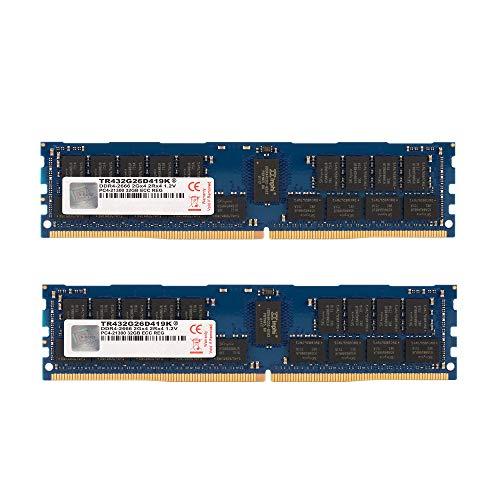 V-Color TR416G26D419 Arbeitsspeicher (64 GB (2 x 32 GB), 2666 MHz (PC4-21300), DDR4, 1,2 V, ECC-Registered DIMM Server Memory RAM Modul Dual Rank Upgrade mit Kühlkörper CL19 2Rx4)