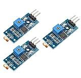 DollaTek Fotoresistenza 3Pcs Modulo sensore di intensità della Luce Digitale Fotoresistenza per Arduino Uno