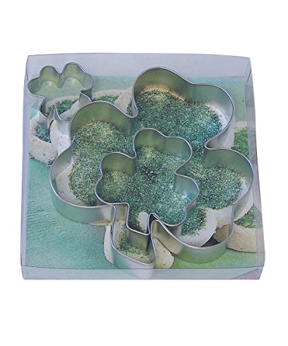 R&M International 1910/B Shamrock Cookie Cutters, Assorted Sizes, 3-Piece Set